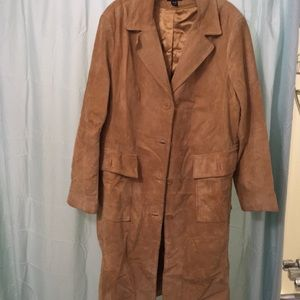 H&M Plus Size leather trench coat